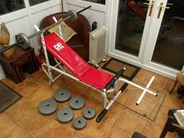 dp weight bench with weights in sheffield south yorkshire gumtree