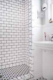 Black And White Bathroom Tiles Ideas by Best 25 White Tiles Black Grout Ideas On Pinterest Outside
