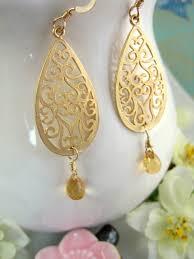 Citrine Chandelier Earrings Gold Bohemian Citrine Chandelier Earrings Gold Citrine Tear Drop
