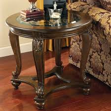 signature design by ashley end table signature design by ashley norcastle round end table with glass top