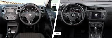 volkswagen tiguan 2016 interior volkswagen tiguan old vs new compared carwow