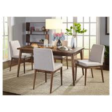 5 piece element mid century dining set walnut target marketing