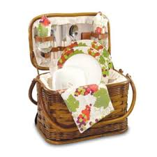 Picnic Gift Basket Amazon Com Picnic Time Romance Picnic Basket With Deluxe Service