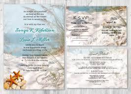 beach wedding invitations seashell wedding invitation beach
