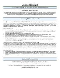 Sample Tax Accountant Resume by Controller Resume Example