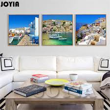 greek home decor canvas painting wall art for living room decorations home decor
