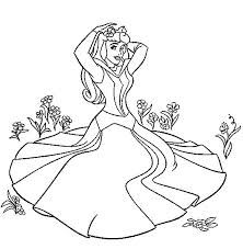 princess aurora coloring pages