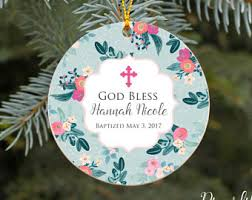 christening ornament baptism ornament god bless baby boy
