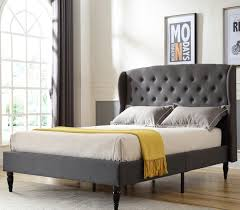 Bedframe With Headboard Coventry Upholstered Headboard And Platform Bed Frame Classic Brands