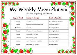 weekly menu template best 20 weekly menu template ideas on