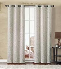 White Energy Efficient Curtains Amazon Com Sun Zero Ravi Thermal Lined Energy Efficient Curtain