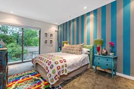 little girls bedroom paint ideas white chevron pattern accent wall