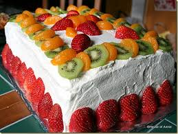vanilla butter layer cake fruit