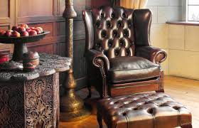 Leather Chesterfield Armchair Chesterfield Armchair Leather Wing Stamford Fleming U0026 Howland