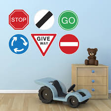 road sign wall stickers set of 6 zygomax road sign wall stickers set of 6