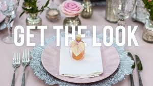 Table Setting Pictures by Get The Look Pink U0026 Silver Table Setting Youtube