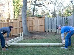 how to build a wooden kids u0027 swing set hgtv