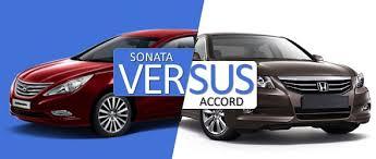 honda accord or hyundai sonata hyundai sonata versus honda accord battle of the premium sedans