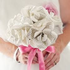 Paper Roses Hand Tied Six Literary Paper Roses Bouquet By Bookish England