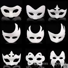 unpainted masks creative mask white unpainted plain blank version paper pulp