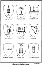 catholic symbols for the 7 sacraments illust by sister m a