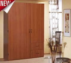 Clothes Cabinet Armoire Wardrobe Storage Cherry Closet Bedroom Furniture Clothes