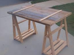 ana white sawhorse writing desk diy projects