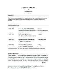 Sample Objective Of Resume by Good Objectives For Resume Resume Example