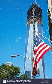 New Yorks Flag The Nearly Finished Freedom Tower In New York Manhattan Under