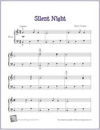 silent night christmas free sheet music for easy piano http