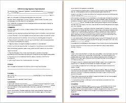 ms word advertising agency agreement template free agreement