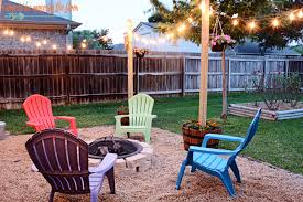 How To Make A Pea Gravel Patio I Should Be Mopping The Floor Diy Patio Area With Texas Lamp Posts