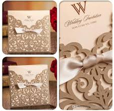 wholesale personalized wedding invitation cards gold wedding