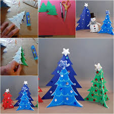 Arts And Crafts Christmas Tree - wonderful diy easy cardstock christmas tree