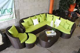 Outdoor Patio Furniture Sectionals High Back Outdoor Patio Furniture Sectional Sofa Set Ebay