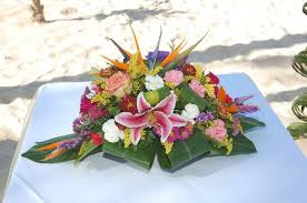 tropical flower arrangements tropical flower arrangement for wedding ceremony picture of
