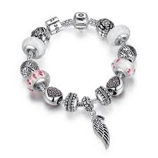 diy pandora charm bracelet images European pandora style charm bracelets with red heart murano glass jpg