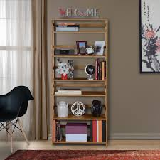 home decorators collection 3 shelf folding bookcase in mahogany