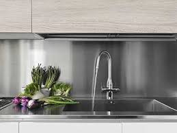A Metal Backsplash A Great Alternative - Metal backsplash