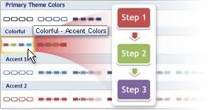 change the color of a shape shape border or entire smartart