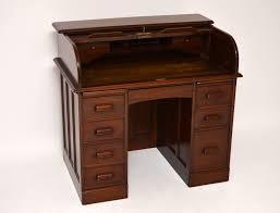 Schreibtisch Antiker Mahagoni Roll Top Schreibtisch