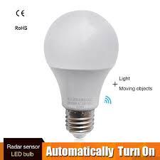 microwave light bulb led e27 led microwave radar motion ambient sensor light l bulb ac85
