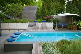 kleine schwimmteiche und pools im garten blütenrausch