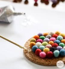 Wool Ball Rug Diy Wool Felt Ball Coasters Inspired By Charm