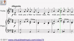 we wish you a merry sheet score