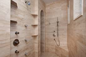faux wood tile bathroom contemporary with bath tub colonial realie