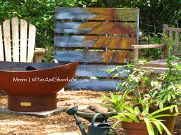 Wood Pallet Garden Ideas Hoe And Shovel Upcycled Wooden Pallet Garden