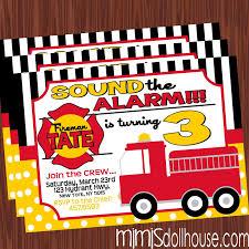 fire truck birthday party invitations alanarasbach com