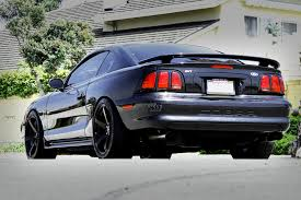 Silver Mustang Black Rims Smoke Tires With This Ford Mustang On Enkei Wheels