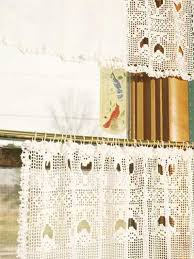 Crochet Valance Curtains Crochet General Decor Tulip Lace Curtain And Valance